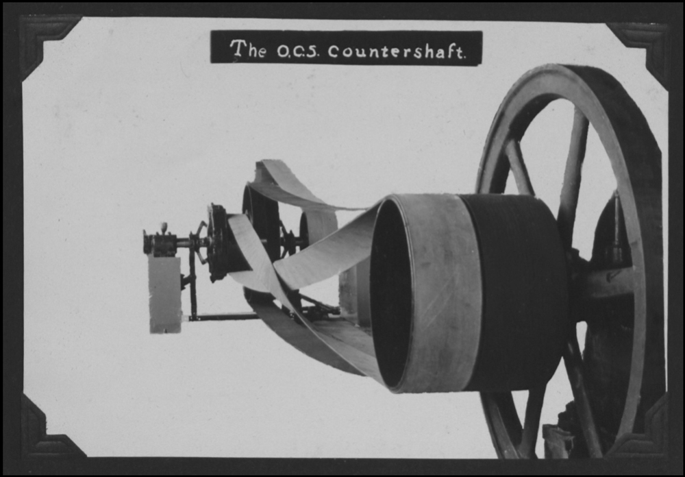 A view of the motor and counterweight, probably from a manufacturer publication.