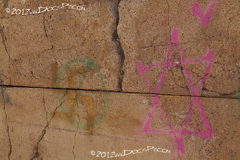 As found on the west wall of still base four.