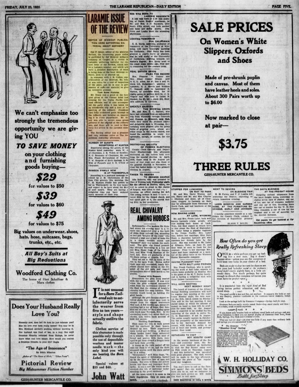 Laramie Republican 23rdJuly1920.
