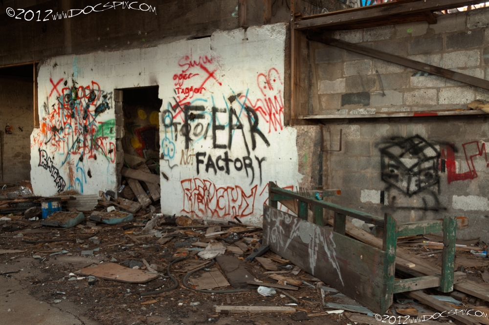 "The opening left of the ""Fear Factory"" was for the elevator."