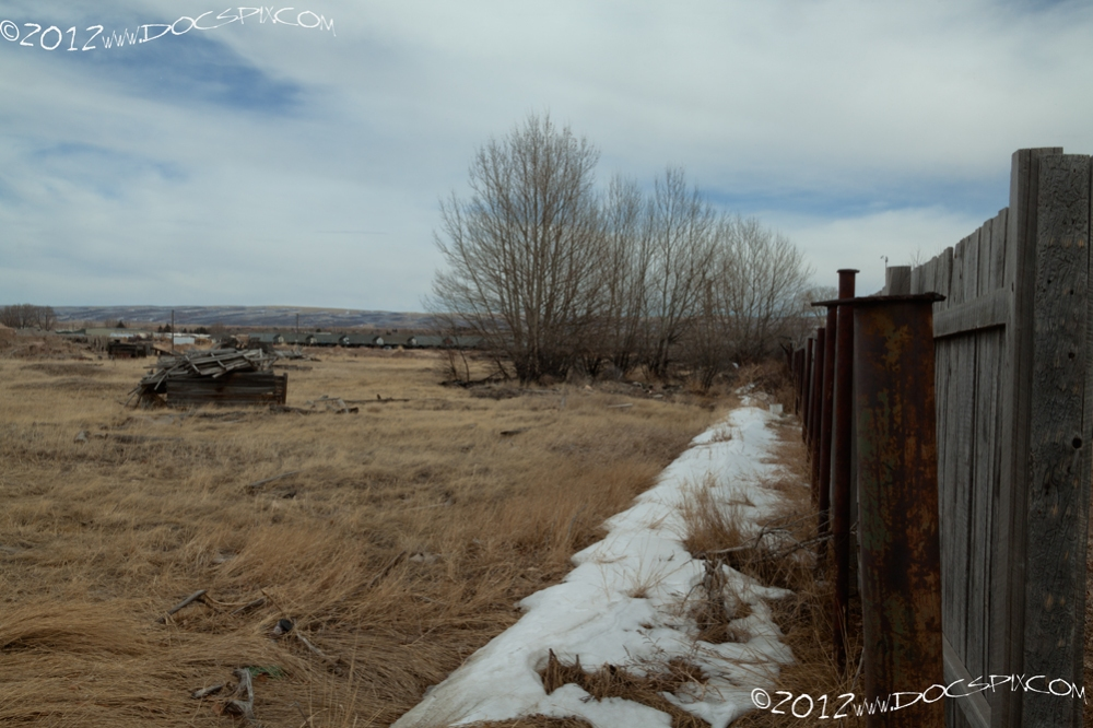 Looking east along the southern fence lines.