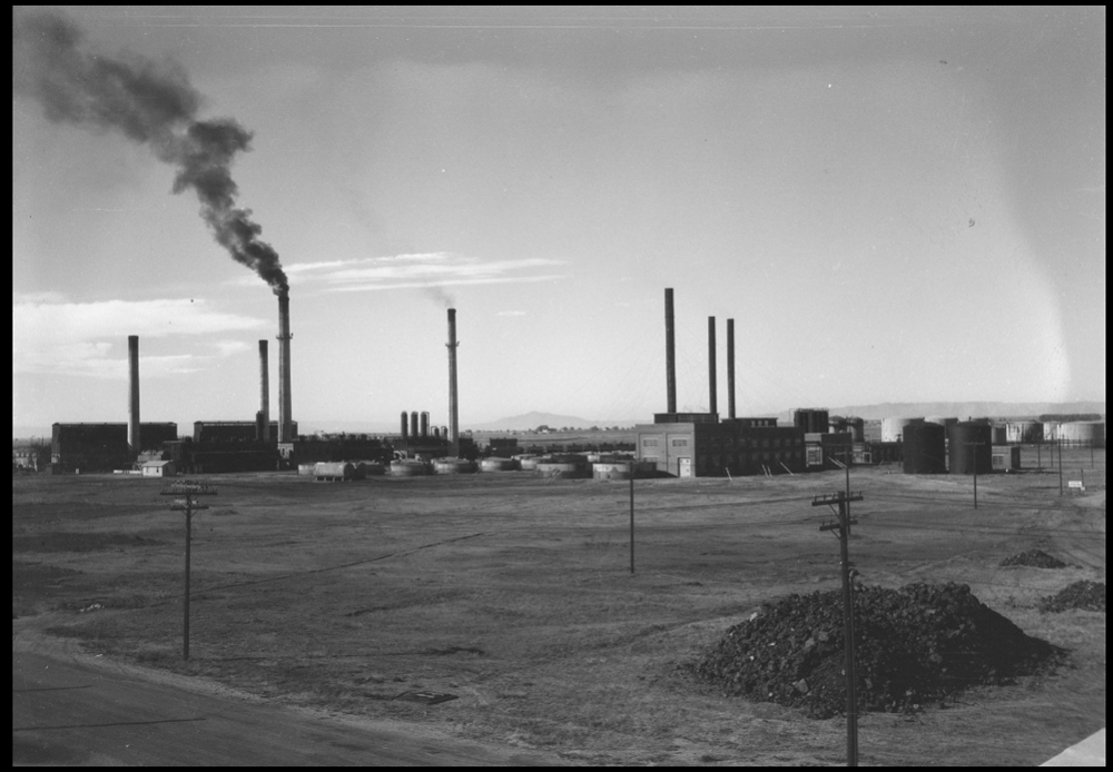 One of two views of the refinery from the east looking west. (circa 1928)