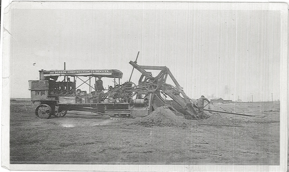 This ditch digging machine is the early predecessor to the modern trencher.