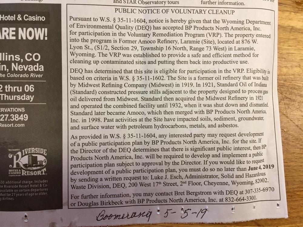 VRP notice